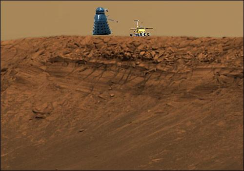 A Mars rover and a Dalek...